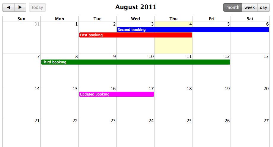 Building a shared calendar with Backbone js and FullCalendar