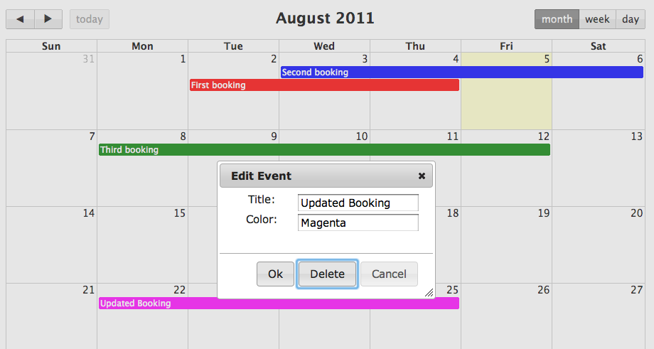 Building a shared calendar with Backbone js and FullCalendar