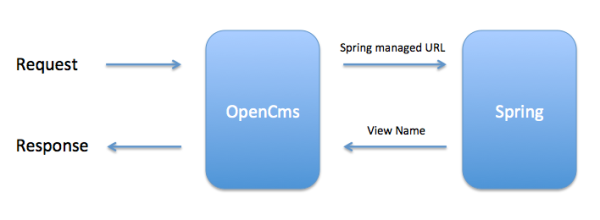 SpringMVC working with OpenCms