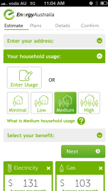 EnergyAustralia's Mobile Quote Tool