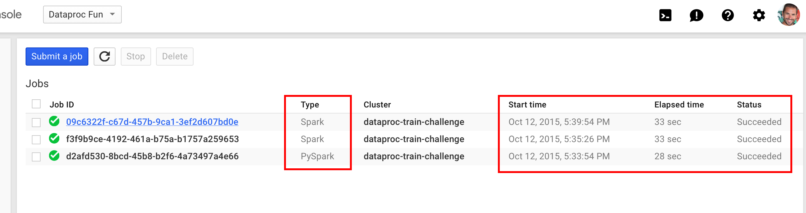 Google Cloud Dataproc and the 17 minute train challenge – Shine