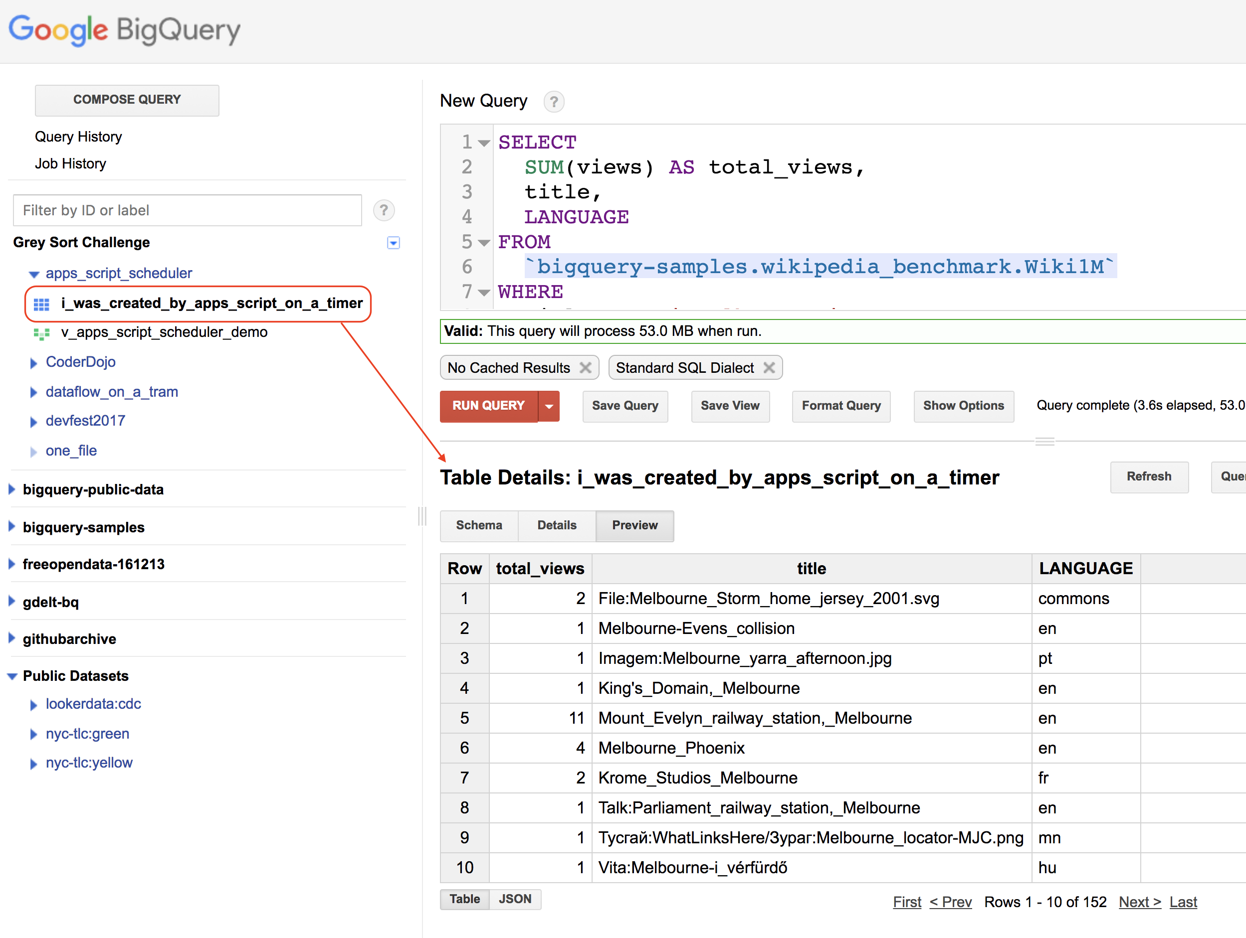 Scheduling BigQuery jobs using Google Apps Script – Shine
